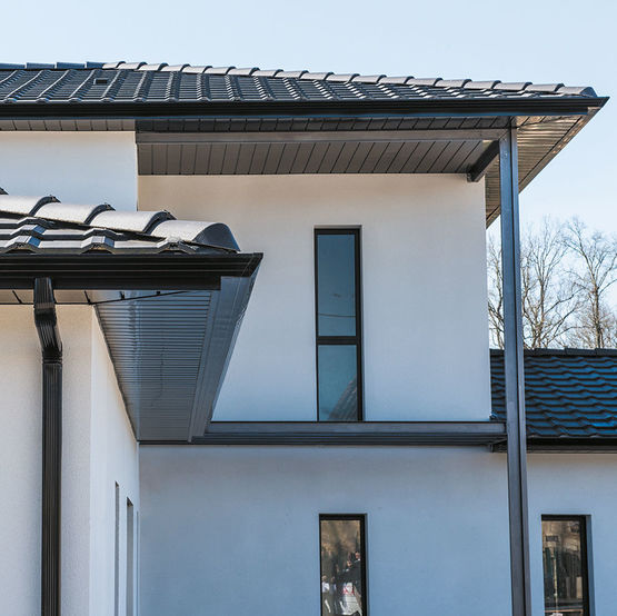 goutti re trap ze en aluminium pr laqu au design pur e325 evolution dal alu. Black Bedroom Furniture Sets. Home Design Ideas