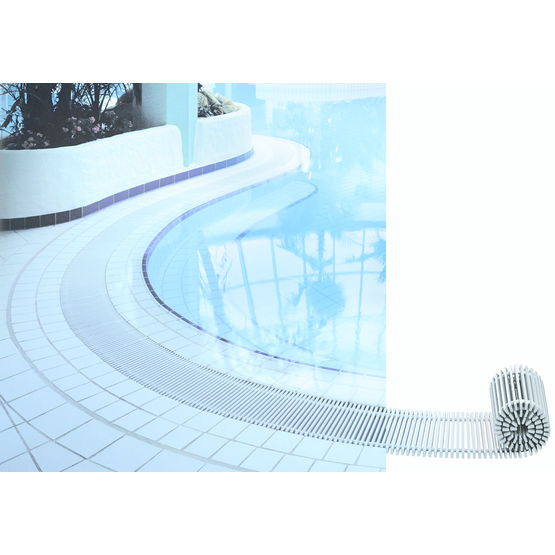 Grille de d bordement pour piscine 723 25 emco france for Caniveau piscine a debordement