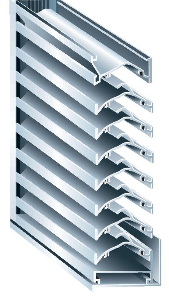 grille de ventilation lames horizontales en forme de v. Black Bedroom Furniture Sets. Home Design Ideas