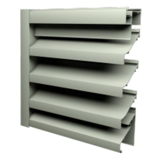 Grille de ventilation a4080 lames en aluminium cs france - Grille de ventilation exterieure aluminium ...