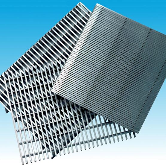 grille plate ou cylindrique en acier inoxydable grilles en fil soud euroslot. Black Bedroom Furniture Sets. Home Design Ideas