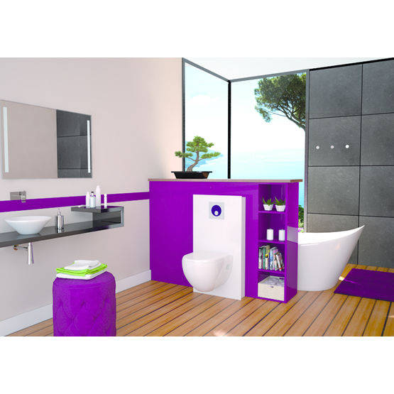 habillage pr t poser pour wc suspendu extramuros wirquin. Black Bedroom Furniture Sets. Home Design Ideas