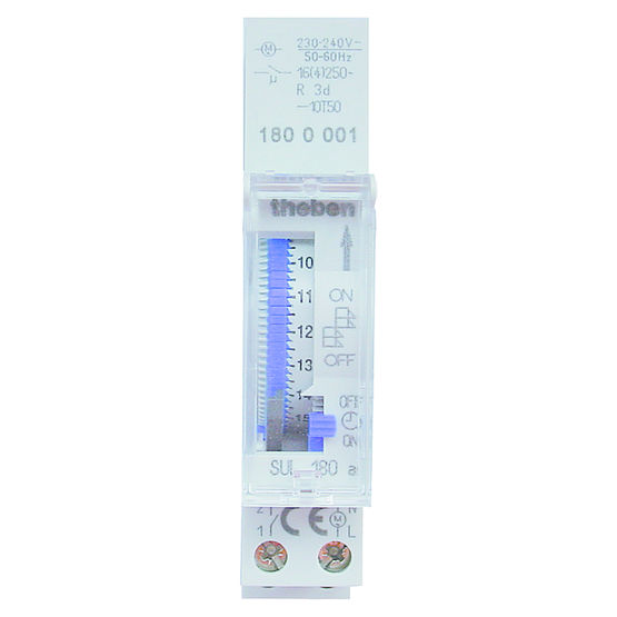 Horloge programmable pour tableau lectrique sul 180 a theben - Horloge tableau electrique ...