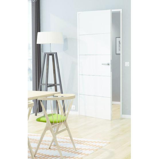 Huisserie m tallique r versible pour portes int rieures en for Porte interieur simple
