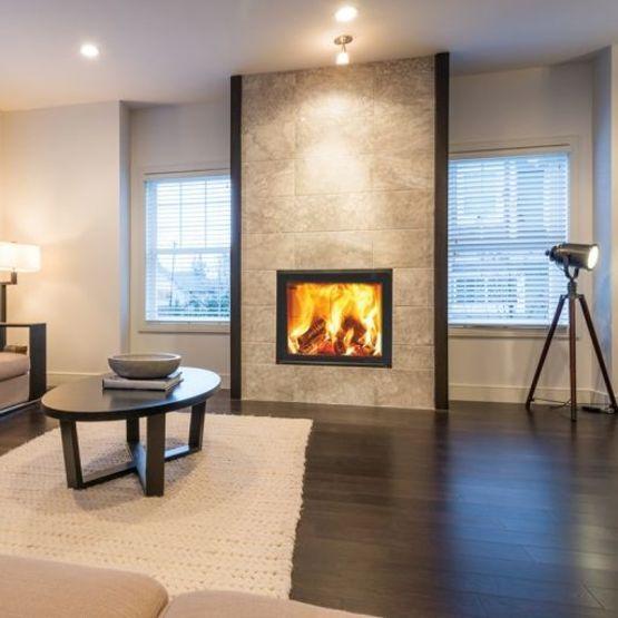 insert bois simple face m design interra pour chemin es. Black Bedroom Furniture Sets. Home Design Ideas