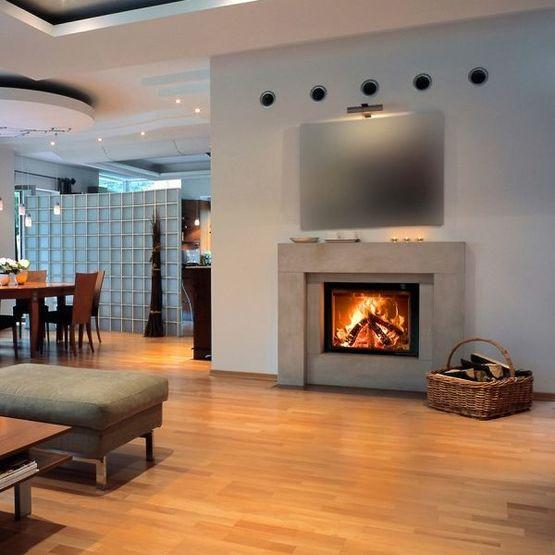 insert bois simple face m design interra pour chemin es batiproduits. Black Bedroom Furniture Sets. Home Design Ideas