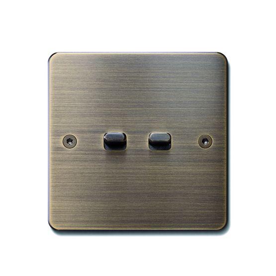 interrupteur monobloc plaque m tallique pour lieux de. Black Bedroom Furniture Sets. Home Design Ideas