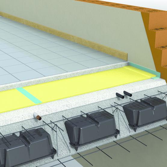 isolant acoustique pour structures all g es en b ton arm u boot silence daliform group. Black Bedroom Furniture Sets. Home Design Ideas
