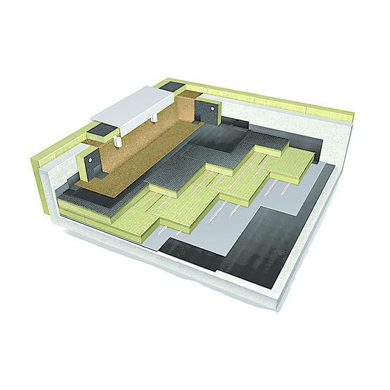 rock up b plus de rockwool un isolant pour toiture non accessibles. Black Bedroom Furniture Sets. Home Design Ideas