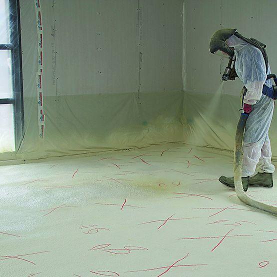 isolat bms application pour les sols mousse polyur thane. Black Bedroom Furniture Sets. Home Design Ideas