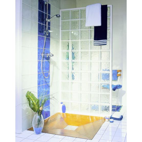 kit de briques de verre pour paroi de douche cubidouche. Black Bedroom Furniture Sets. Home Design Ideas