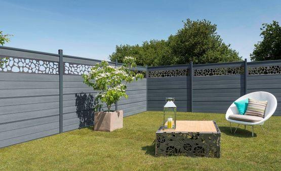 Lame de d coration en aluminium ou verre kit d co pour cl tures silvadec en finition lisse ou - Prix d une cloture de jardin ...