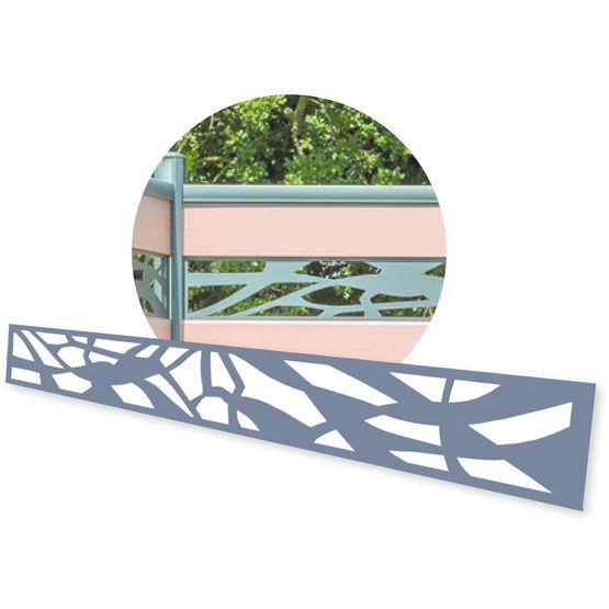 Lame de d coration en aluminium verre ou acier trait kit d co pour cl tures silvadec en for Cloture acier ou aluminium