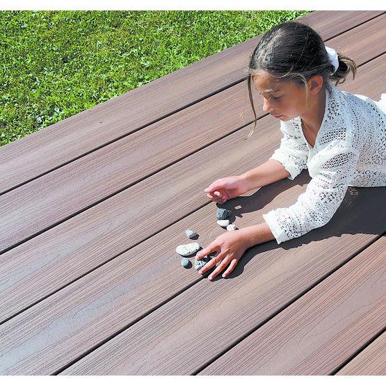 Terrasse Composite: Lame De Terrasse En Bois Composite De Grande Largeur