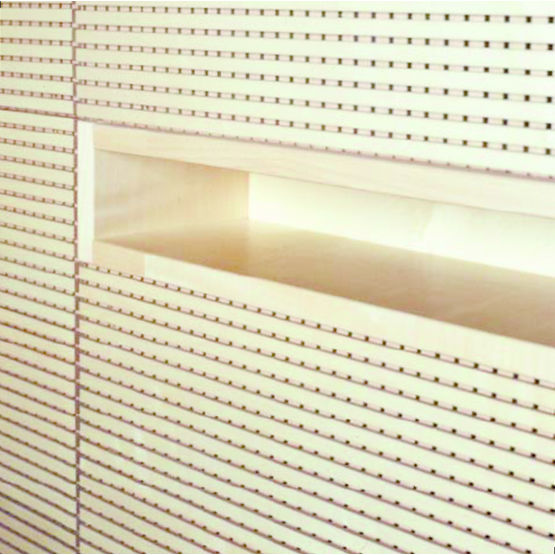 Audacieuse Lame MDF pour la réalisation de murs et plafonds acoustiques QZ-14