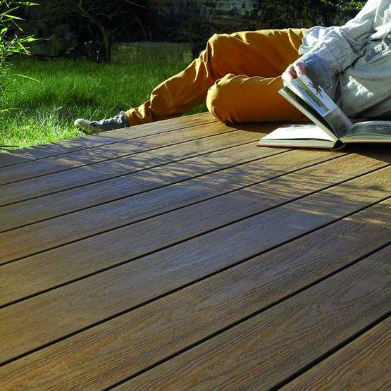 Lames De Terrasse En Bois Composite à Profil Réversible Brooklyn