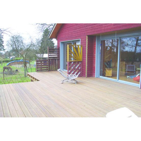 lames de terrasse en pin huil lames de terrasse prolin. Black Bedroom Furniture Sets. Home Design Ideas