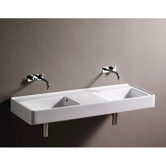 lavabo mural simple ou double solo solo duetto sopha industries. Black Bedroom Furniture Sets. Home Design Ideas