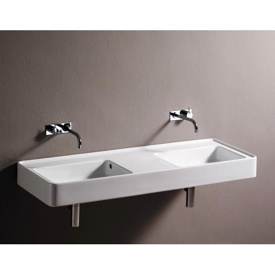lavabo mural simple ou double solo solo duetto sopha. Black Bedroom Furniture Sets. Home Design Ideas