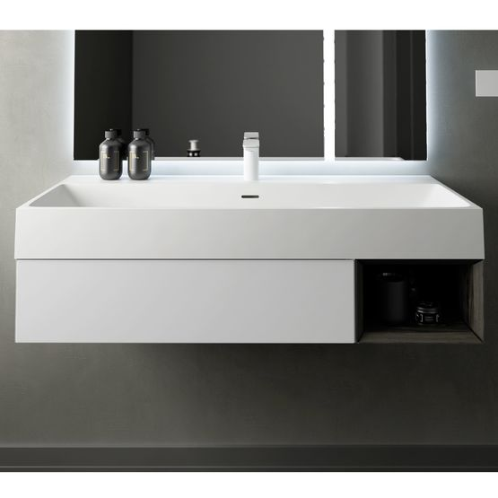 Labo Lavabo Sur Plan De Toilette Ou Suspendu En Solid Surface