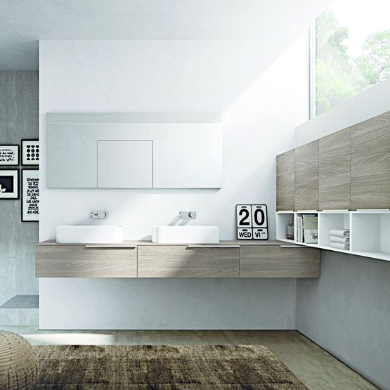 Lavabos et meubles pour am nagement salle de bains my time idea group for Amenagement salle de bain 5m2