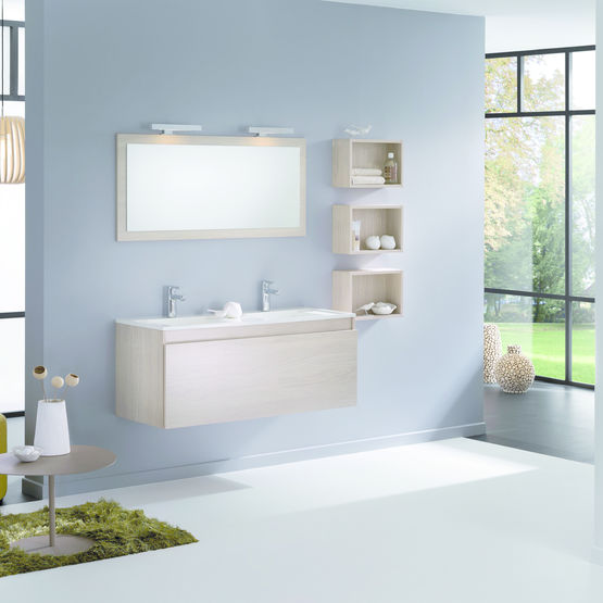 Ligne de mobilier de salle de bain modulable delpha for Mobilier de bain