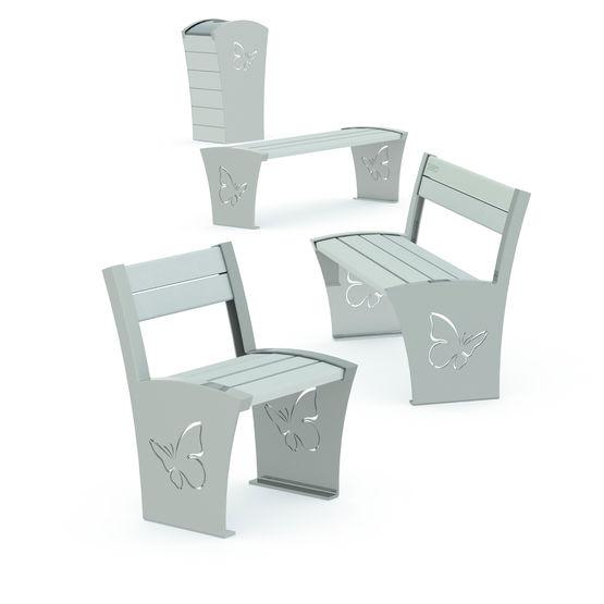 ligne de mobilier en acier et pvc recycl loft plas eco. Black Bedroom Furniture Sets. Home Design Ideas
