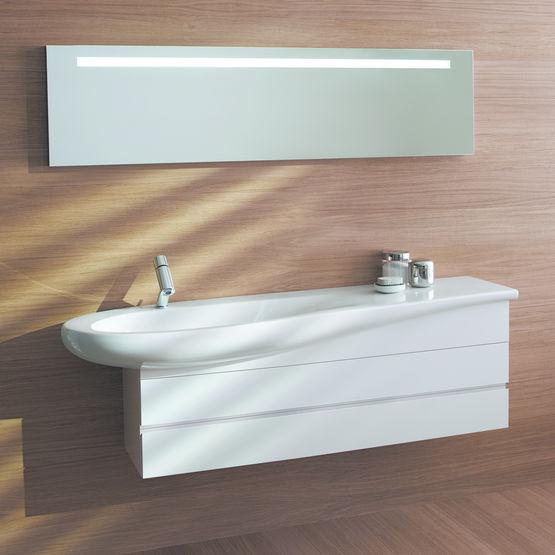 ligne de salle de bains aux formes arrondies il bagno alessi one laufen. Black Bedroom Furniture Sets. Home Design Ideas
