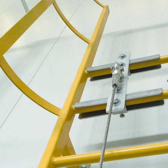Ligne de vie pour toitures métalliques - SI.AL.