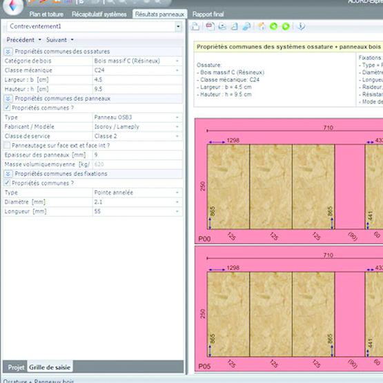 logiciel cao pour structure en bois acord express a doc. Black Bedroom Furniture Sets. Home Design Ideas