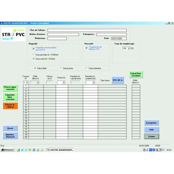 Logiciel de calcul des r seaux d 39 assainissement str pvc - Logiciel calcul plomberie ...
