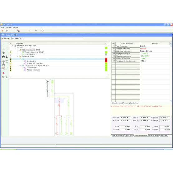 Logiciel de calcul lectrique pour installations industrielles et tertiaires - Logiciel calcul plomberie ...