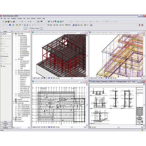 Logiciel de conception et de dessin structurel autocad for Logiciel de conception