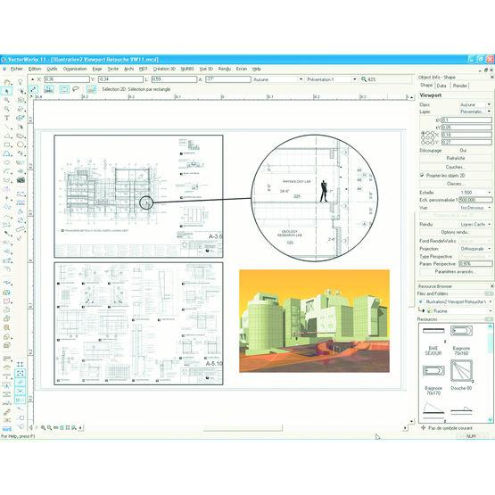 Logiciel de conception et de rendu 2d 3d vectorworks for Logiciel de conception