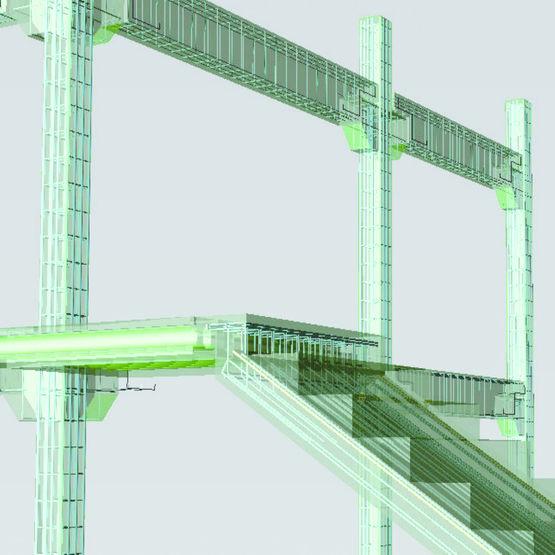logiciel de conception poteaux poutres et escaliers b ton pr fabriqu acad escaliers et. Black Bedroom Furniture Sets. Home Design Ideas