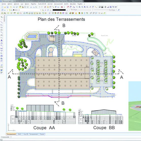logiciel de dessin et de calcul pour projets vrd mensura. Black Bedroom Furniture Sets. Home Design Ideas