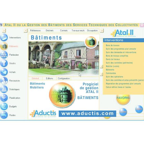 logiciel de gestion de travaux sur b timent atal ii v5 module b timents aductis. Black Bedroom Furniture Sets. Home Design Ideas