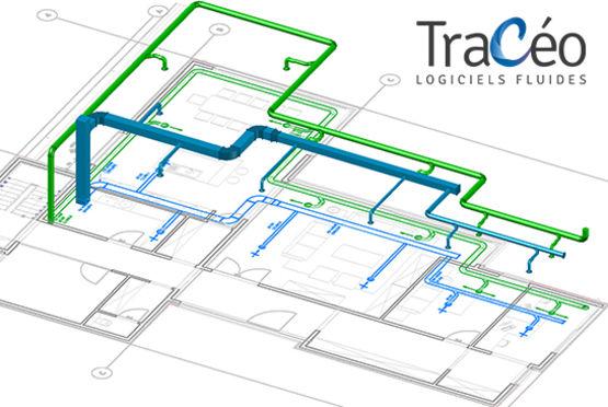 Logiciel De Transformation 2D En 3D Pour Réseaux Cvc Et Plomberie