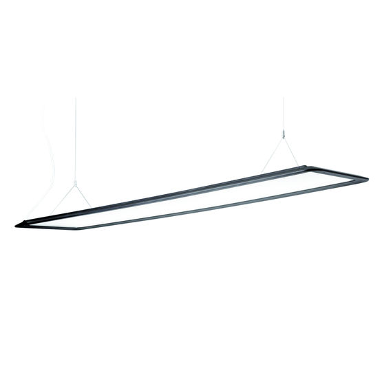 Luminaire LED suspendu à diffuseur transparent