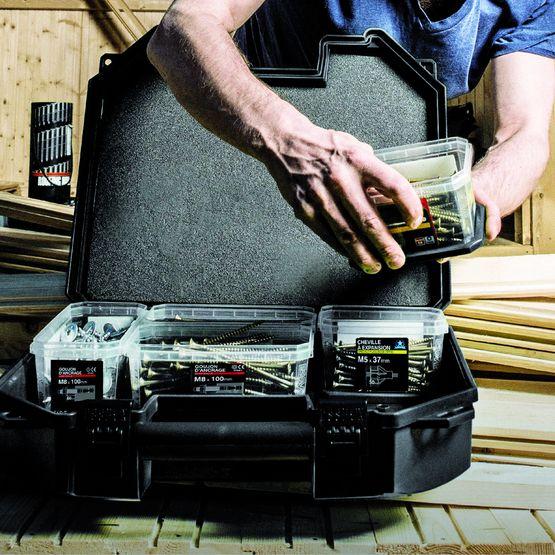 essbox mallettes flexibles de rangement organis pour. Black Bedroom Furniture Sets. Home Design Ideas