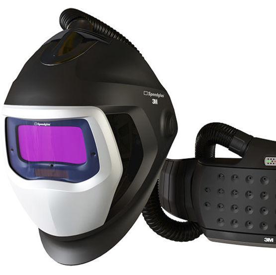 masque de soudure avec appareil respiratoire adduction d air. Black Bedroom Furniture Sets. Home Design Ideas