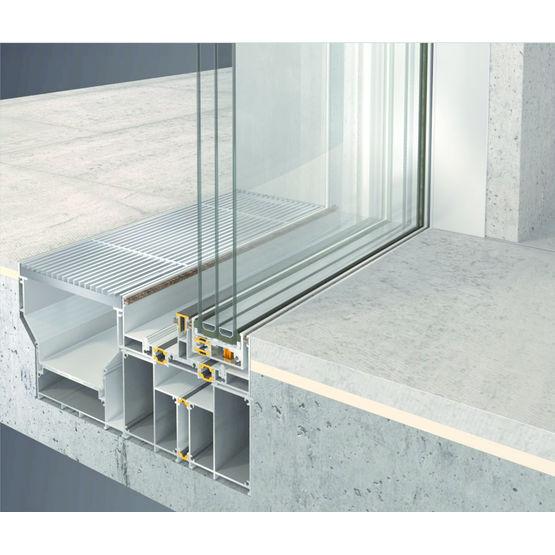 menuiserie coulissante encastr e de grandes dimensions alumil. Black Bedroom Furniture Sets. Home Design Ideas