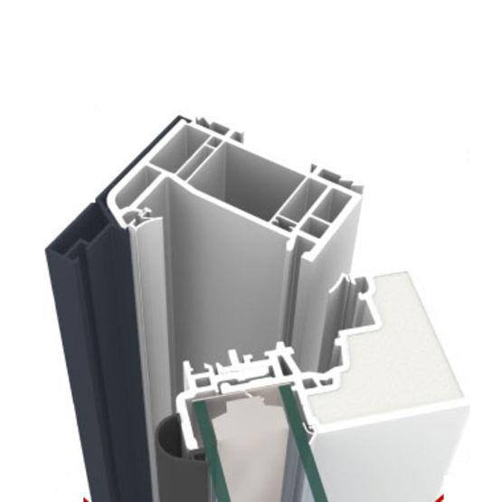 Menuiserie mixte aluminium pvc ouvrant cach et coeur en for Fenetre alu pvc mixte