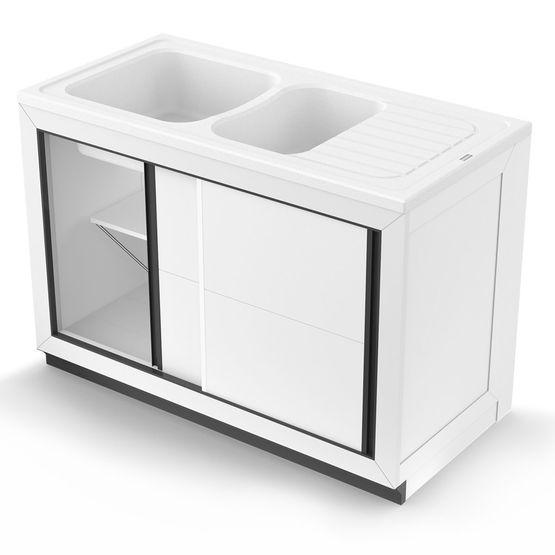 Vend e normandie meuble de cuisine pour vier poser for Meuble pour evier a poser