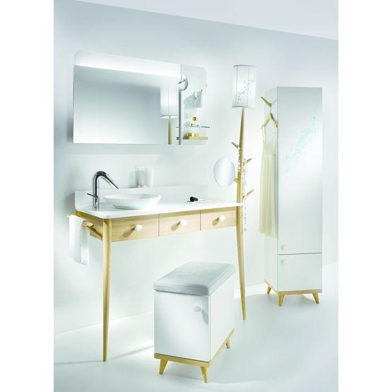 meuble de salle de bains type coiffeuse si on prenait le temps de vivre delpha. Black Bedroom Furniture Sets. Home Design Ideas