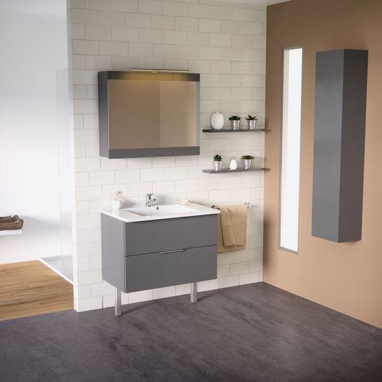 dixie meuble haut miroir salle de bain armoire de. Black Bedroom Furniture Sets. Home Design Ideas