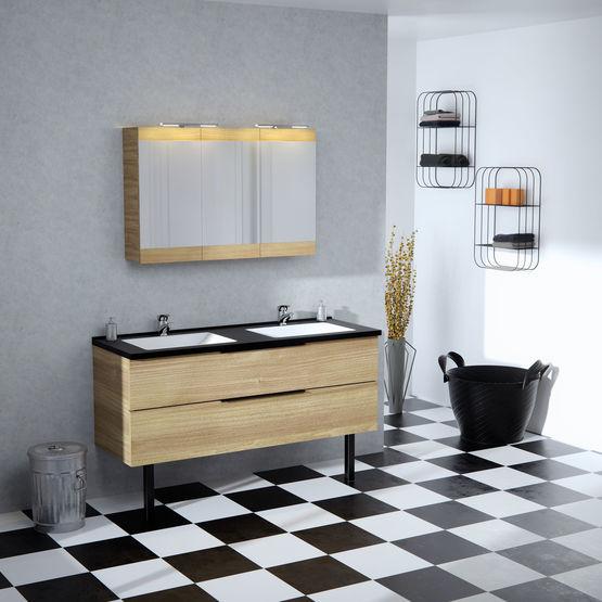 Meuble Haut à Miroir Salle De Bain   Armoire De Toilette | Dixie