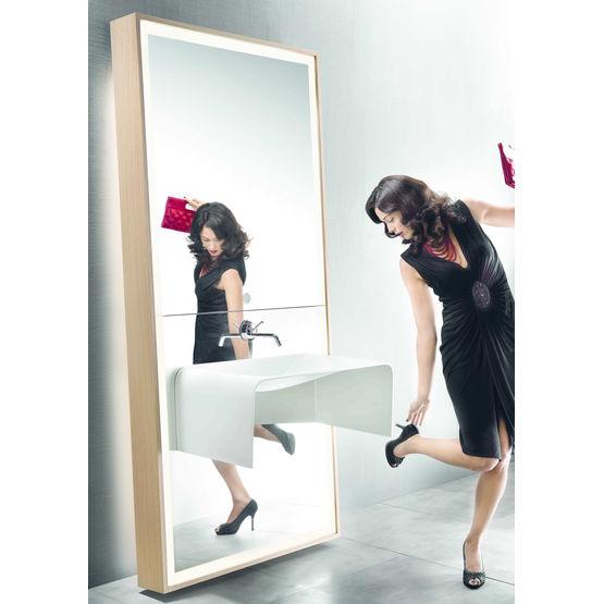 Meuble miroir vasque et mitigeur int gr s image d 39 o for Miroir delpha