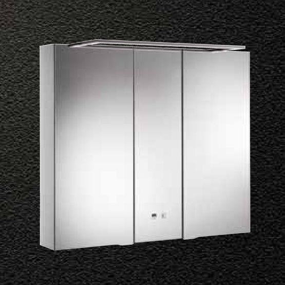 eclairage miroir Meuble miroir en aluminium à éclairage LED intégrée pour salle de bains |  Alkor Basic