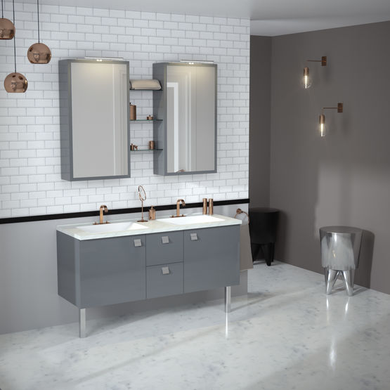 meuble portes salle de bain infiniti portes chene vert. Black Bedroom Furniture Sets. Home Design Ideas